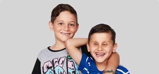 Two child clients smiling
